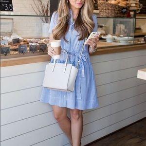 Kate Spade Broome Street Pinstriped Dress